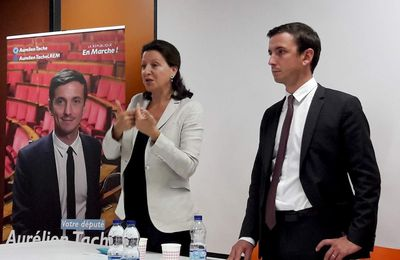 Cergy Réunion Publique avec Agnès Buzyn - Ministre de la Santé et Aurélien Taché - Député