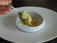 Ravioles du Dauphiné sur fondue de poireaux