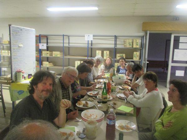 Repas des bénévoles de Vdp avec comme invitée Marie-Annick Guillou