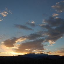 Le soleil couchant du 24 décembre 2010