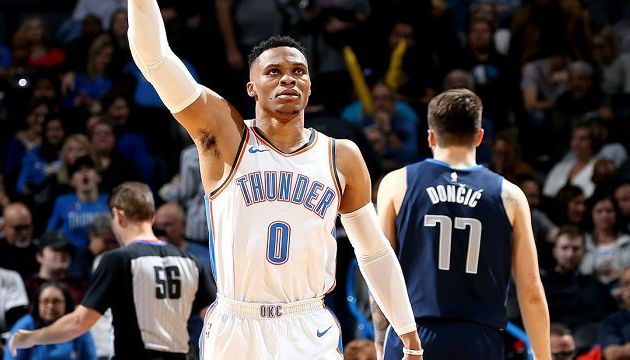 Russell Westbrook guide Oklahoma City face à Dallas