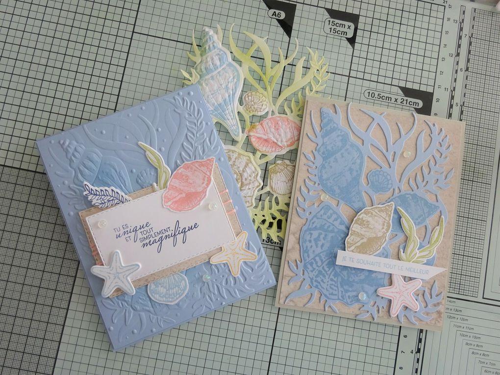 [Stampin'Up!®] 2 exemples de cartes avec la Collection Sable et Mer