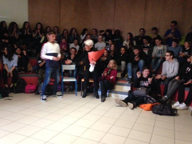 Témoignage de Madame Elisabeth FABRE au collège Le Chamandier de Gières