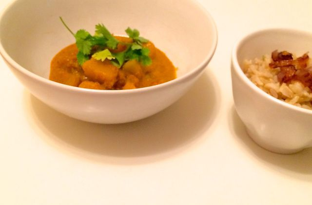 Curry rouge de courge butternut