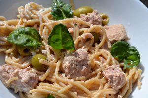 Spaghettis au thon et aux olives au cookeo 8💚💙💜