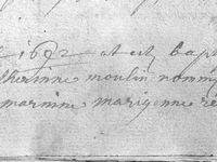 Régiste des Baptêmes de 1692 a 1743 de Tronquoy Respelt