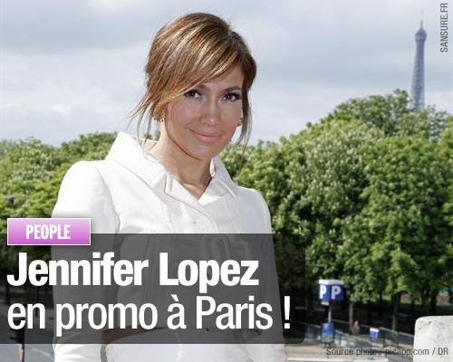 Jennifer Lopez en promo à Paris !