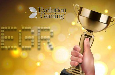 Evolution Gaming de nouveau récompensé aux EGRB2B Awards 2020