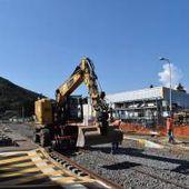 Les travaux se poursuivent à la gare
