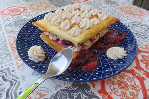 Ma tarte aux prunes datil déstructurée restructurée en mille-feuille...