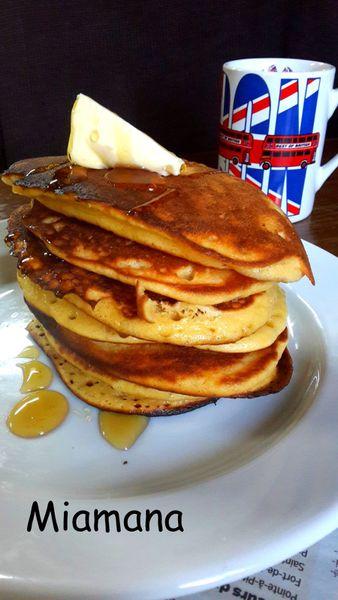 Pancakes moelleux au yaourt consistant
