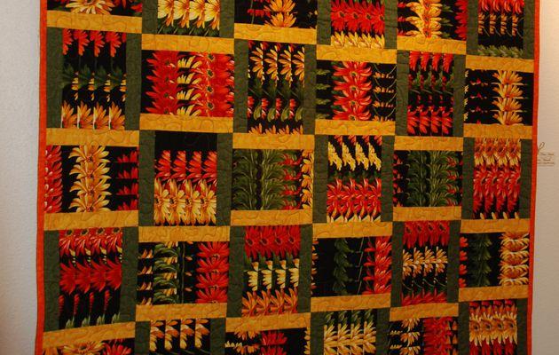 Le quilt aux fleurs tressées / Woven flowers quilt