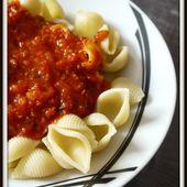 Pates à la sauce tomate, jambon et chorizo (Thermomix) - Tous Aux Fourneaux Avec Gallou