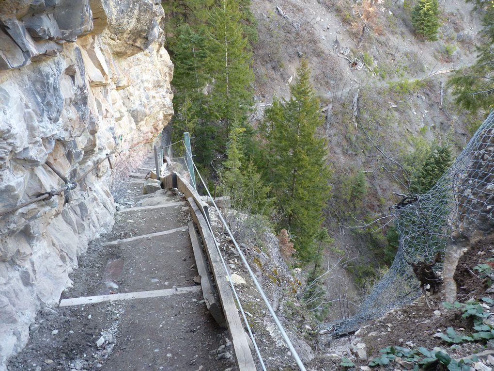 Box Canyon Falls trail. Ouray Colorado