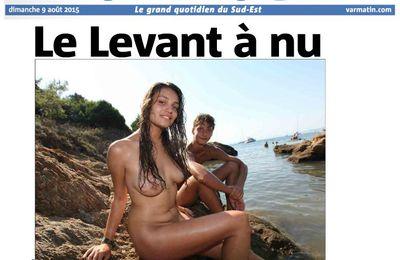 L'île du Levant dans VAR MATIN du 8 août 2015