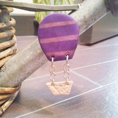 Magnet mongolfière violette