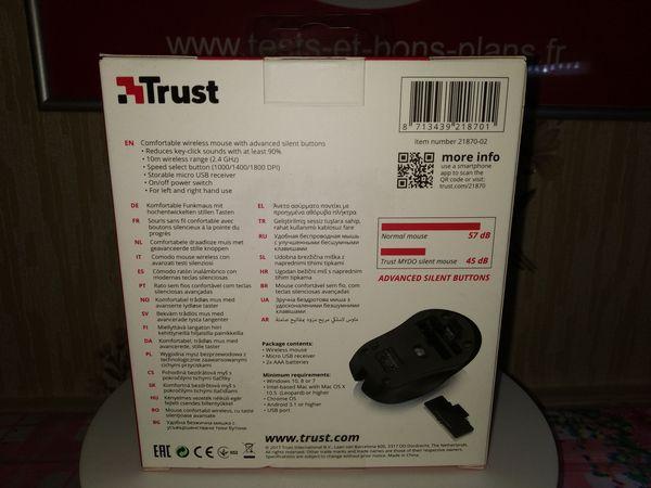 unboxing de la souris bureautique sans fil à DPI réglable- Trust Mydo Silent Click @ Tests et Bons Plans