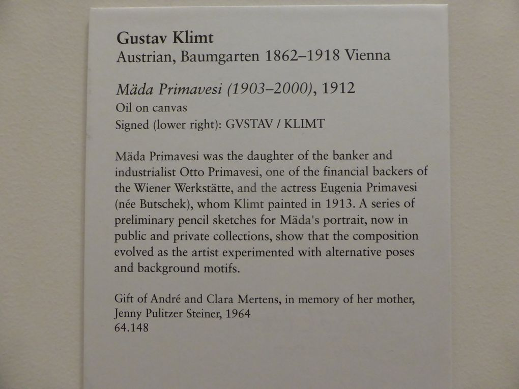 Gustave Klimt, Mäda Primavesi (1903-2000), 1912, huile sur toile. The Metropolitan Museum of Art, New York, Gift of André and Clara Mertens, in memory of her mother, Jenny Pulitze Steiner, 1964 (64.148)