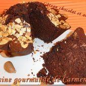Gâteau aux blancs d'oeufs chocolatet amandes - Cuisine gourmande de Carmencita