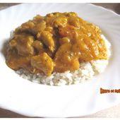 Curry de poulet au potiron et au lait de coco - sucreetepices.over-blog.com