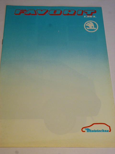 L'un des premiers catalogues de Skoda Favorit.