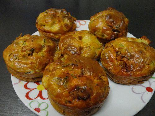 Muffins salés : poireaux, chorizo, mozzarella