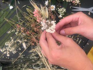 Atelier fleurs séchées à domicile