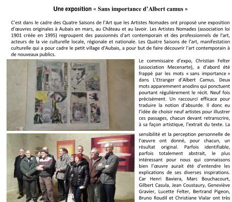 Echo des Rencontres 10-11-12-13-14-15-16 publiés