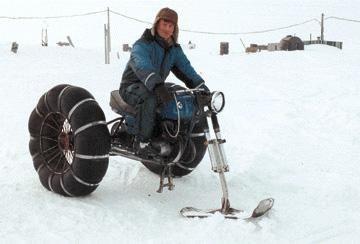 Moto neige en chambre à air