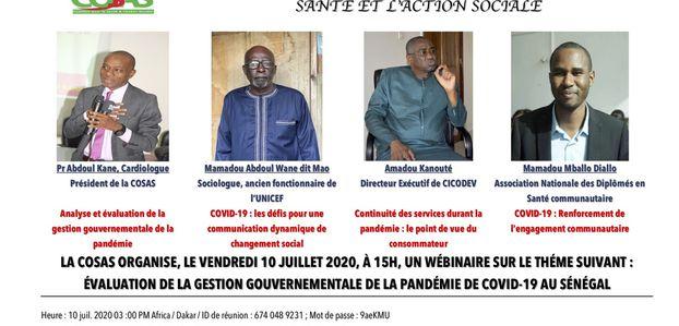 ÉVALUATION PAR LA COSAS DE LA GESTION GOUVERNEMENTALE DE LA  PANDÉMIE DE COVID-19 AU SÉNÉGAL