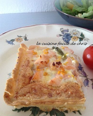 quiche saumon et asperges, saveur orange