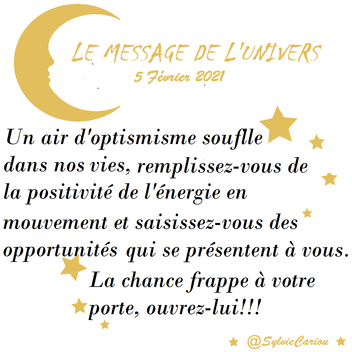 MESSAGES CELESTES 5 FEVRIER 2021