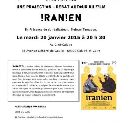 "Cercle Condorcet : ""IRANIEN"" mardi 20 janvier 2015"