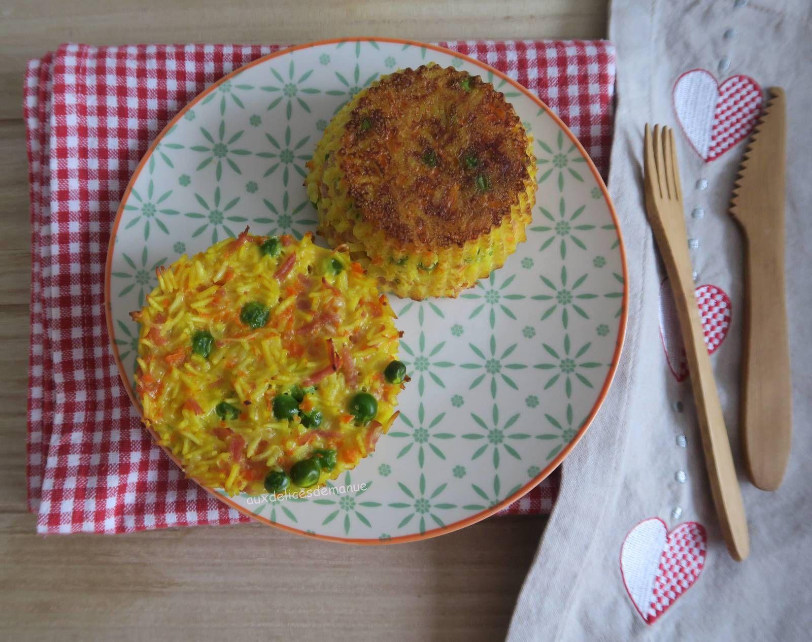 riz,basmati,gâteau de riz,petit-pois,carotte,légumineuses