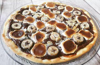 Pizza Nutella banane chamallow - Foodista Challenge#79