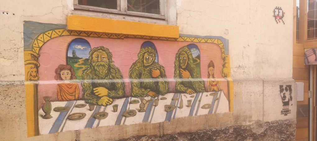 Balade street art dans le 14eme arrondissement de Paris, grands voisins et maroquinerie.