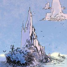 Promenade : l'île bleue