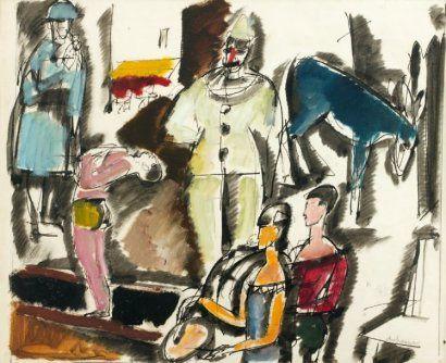 """""""Scène de cirque - Medrano"""" (Troyes Musée d'Art Moderne)"""