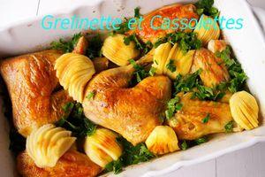 Poulet Rôti au Poiré et aux Pommes Fruits