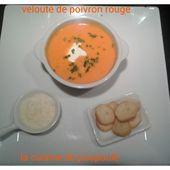 Velouté de poivrons rouges au thermomix - La cuisine de Poupoule