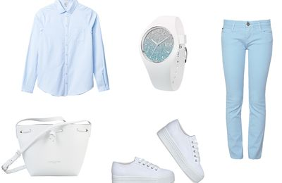 Total Look Bleu #outfitherfashionday 27