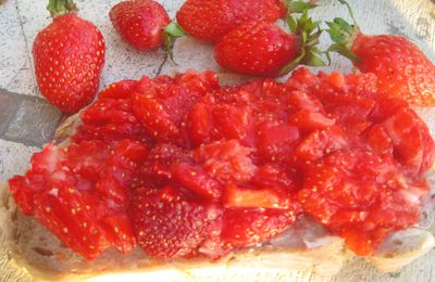 La tartine aux fraises
