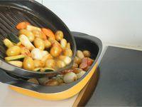 Tajine de légumes confits et bouillon épicé