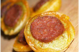 Des petites Bouchées ... Fèves - Chorizo