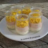 Verrines d'œufs mimosa au thon - La cuisine de poupoule