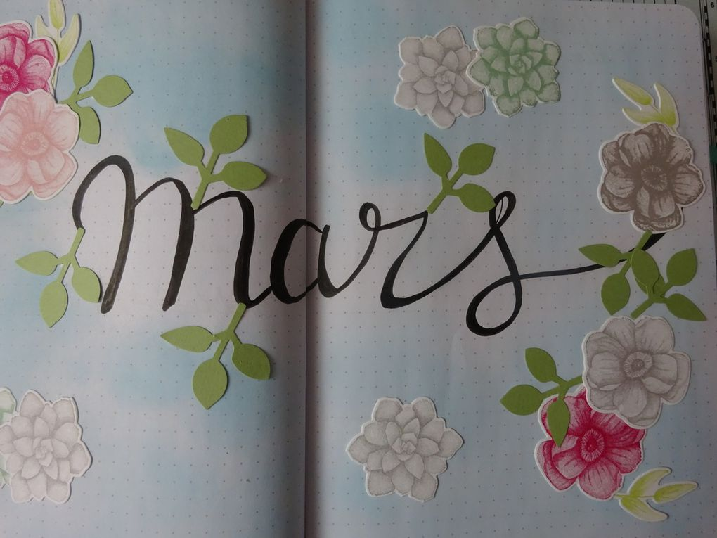 Bullet journal: plan with me : mars 2019
