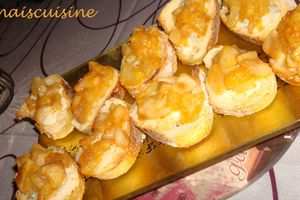 Toasts poire, gorgonzola et paprika