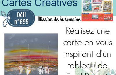 Défi n°695 sur le blog PASSION CARTES CREATIVES