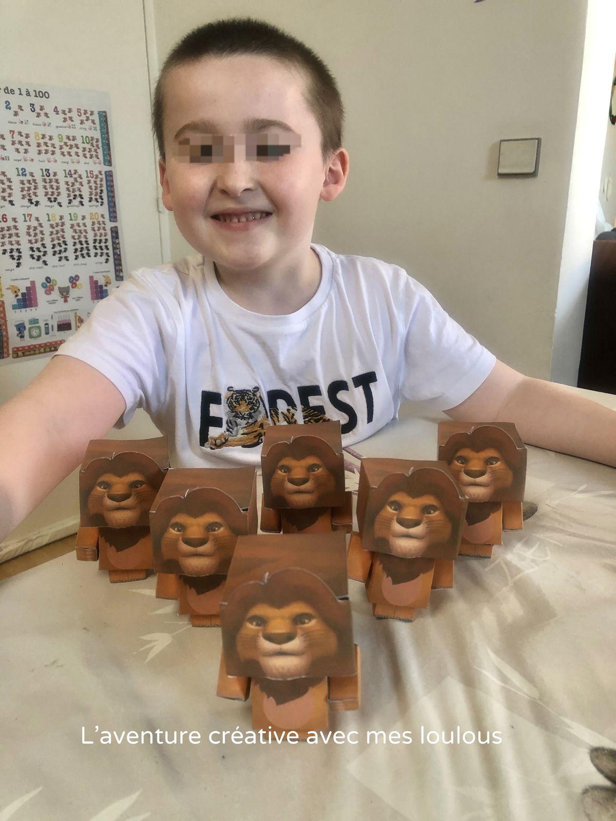 Paper Toy Simba