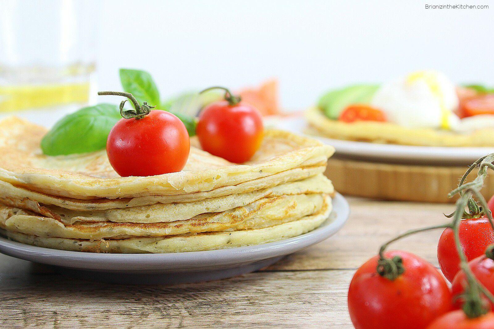 Pancakes Salés Ricotta et Basilic